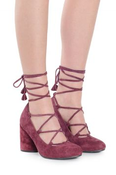 Jeffrey Campbell Shoes ZAUN Heels in Wine