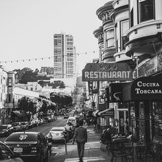 A man makes his way through Grant Avenue, the oldest street in San Francisco, and then to Green Street. Along his route, he passes by a collection of old-school Italian style restaurants, pizzerias, and small boutiques. @goodarrow3/@citywithdreams for @streetvogs