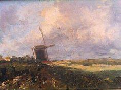 Dutch oil on wood, signed J H Weissenbruch, 1903 Selection, Dutch Painters, Windmill, Monet, Netherlands, Holland, Oil, Friends, School