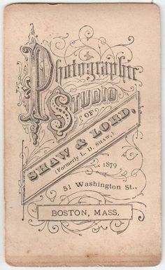 vintage typography - business card