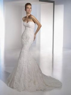 wedding dresses wedding dresses 2014 wedding dresses with straps sweetheart 2014 springstyle trumpet/mermaid sweetheart lace sleeveless chapel train organza white wedding dress for bride Organza Bridal, Wedding Dress Organza, Wedding Dress Train, Bridal Wedding Dresses, White Wedding Dresses, Lace Wedding, Mermaid Wedding, Lace Mermaid, Lace Dress