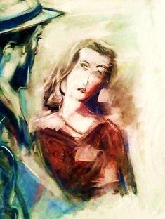 Comprar Bogart y Bacall - Pintura de Ben Reginald graphic artist por 182,00 EUR en Artelista.com, con gastos de envío y devolución gratuitos a todo el mundo