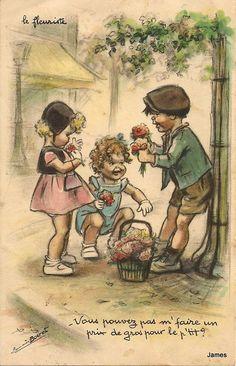 BOURET Germaine : Illustrateurs | Cartes Postales Anciennes sur CPArama