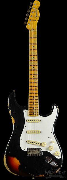 Fender Custom Shop Limited Edition Heavy Relic Mischief Maker Black over Three Tone Sunburst