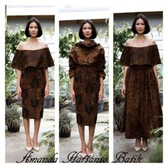 Amanda Hartanto Batik Kebaya Dress, Batik Kebaya, Batik Dress, I Dress, Batik Fashion, Ethnic Fashion, Fashion Prints, African Fashion, Indonesian Kebaya