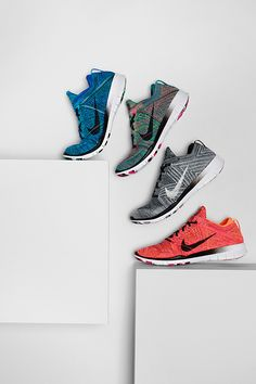 Step up your training moves with flexible Nike TR Flyknit shoes in fierce new designs.