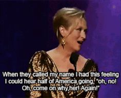 And when she took her billionth award with damn pride. | 17 Times Meryl Streep Was An Inspiration To Us All