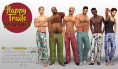 """This set of pyjama bottoms pretty much picks up where Foxy Boxers left off. I like low-slung, relaxed fit items for my guys and well, the results speak for themselves. This is a recolour of @lumialoversims' """"Dude, I Can See Your Undies"""" mesh, which..."""