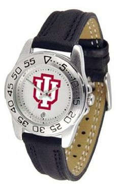 Indiana University Hoosiers Women's Leather Band Athletic Watch by SunTime. $49.95. Calendar Function With Rotating Bezel. Adjustable Band. Leather Band-Scratch Resistant Crystal. Officially Licensed Indiana Hoosiers Women's Leather Band Athletic Watch. Women. Indiana Hoosiers ladies watch with leather sports band. Women's Hoosiers watch comes with a genuine leather strap, date calendar, and rotating bezel/timer that circles the scratch-resistant crystal. This sporty ...