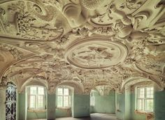 Ceiling in an abandoned castle in Germany.