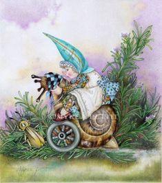 Myrea Pettit   ... World, Fairy & Fantasy Art Gallery - Myrea Pettit/Rosemary Patch