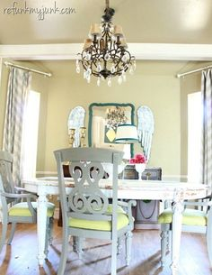 Dining Room project. Going to try using sprayer with chalk paint.