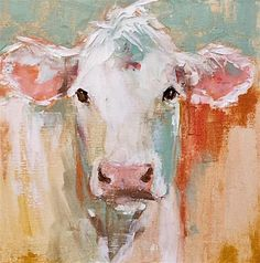 """Daily Paintworks - """"jane"""" - Original Fine Art for Sale - © Carol Carmichael Cow Painting, Painting & Drawing, Acrylic Painting Animals, Cow Pictures, Farm Art, Cow Art, Fine Art Gallery, Animal Paintings, Painting Inspiration"""