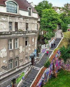 Small stair case near Brankov bridge