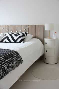 Wooden headboard - bedroom