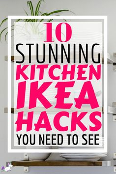 IKEA kitchen hacks are the perfect solution if you want to save money redecorating your kitchen. These IKEA kitchen hacks are easy to DIY on a small budget! Ikea Kitchen, Kitchen Hacks, Kitchen Decor, Kitchen Ideas, Decorating Kitchen, Condo Decorating On A Budget, Kitchen Small, Kitchen Designs, Ikea Hacks