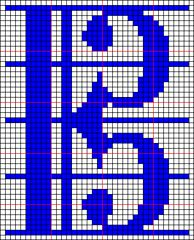 Ravelry: Alto Clef Chart pattern by Janis Cortese
