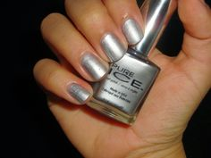 "Pure Ice Nail Polish in ""Silver Star"": This color wasn't really my fave."