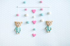 Hey, I found this really awesome Etsy listing at https://www.etsy.com/listing/233830011/bear-baby-mobile-pink-and-blue-crib