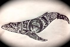Humpback whale. Time Tattoos, Cool Tattoos, Tatoos, Awesome Tattoos, Whale Tattoos, Animal Tattoos, Hawaiian Tribal Tattoos, Whale Pattern, Whale Shirt