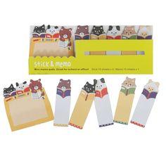 Cats And Bears Mini Memo Pad | DotComGiftShop