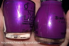 OPI Plugged-In Plum vs. Sinful Colors Fig