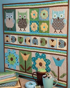 If you& ready to take on an advanced, long-term quilting project, check out these the Owl Always Love You Quilt Samplers; which can be made into a year long sampler quilt project or make multiple applique quilt designs. This mini quilt pattern used Quilt Baby, Colchas Quilt, Owl Quilts, Sampler Quilts, Applique Quilts, Quilting Tutorials, Quilting Projects, Quilting Designs, Quilt Patterns Free