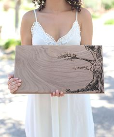 Rustic Tree Personalized Initial Extra Large Cutting Board