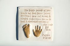 homemade hand ornaments with saying | Baby Handprint kit Online for Baby cast in ceramic clay and done from ...