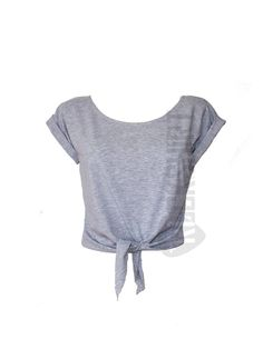 Short tshirt with knot and sleeve tabs by Rockshirt on Etsy