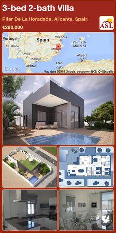3-bed 2-bath Villa in Pilar De La Horadada, Alicante, Spain ►€292,000 #PropertyForSaleInSpain