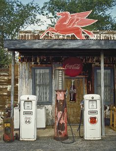 Old Gas Pumps along Route 66, many of these are still standing, but not in use.