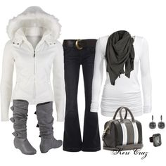 """""""Snow Bunny"""" by keri-cruz on Polyvore minus the coat .... Don't need that in Texas, haha."""