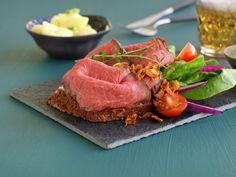 Roastbiffsmørbrød Tuna, Beef, Fish, Ethnic Recipes, Ox, Atlantic Bluefin Tuna, Steak