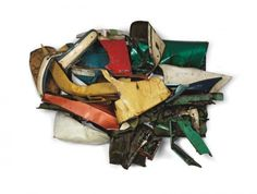 John Chamberlain's crushed car sculptures.