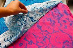 DIY Lace Print Shirt. AWESOME!!