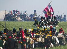 Several thousand spectators attended the reenactment of the battle of Ligny, Napoleon's last victory, to mark the civentenary of the Battle of Waterloo. The troops will be part of 5,000 re-enactors in Belgium on June 18, bringing to life a legendary battle in which Wellington and the Prussian general, Gebhard von Bluecher, won a definitive victory over Napoleon.