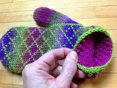 Ravelry: The Crochet Fair Isle Mitten Handbook pattern by Lori Adams - looks like knit, but it's not!