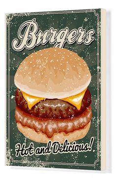 Fine Art Prints, Framed Prints, Canvas Prints, Burger Cartoon, Thing 1, Hamburgers, Poster Size Prints, Screen Printing, Photo Gifts