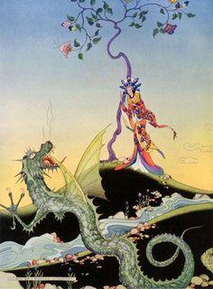 Illustration from The Arabian Nights by Virginia Frances Sterrett. ~via TI Group, FB