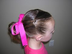 Hairstyles For Girls - Hair Styles - Braiding - Princess Hairstyles - knotted ponytail Cute Toddler Hairstyles, Girly Hairstyles, Pony Hairstyles, Princess Hairstyles, Little Girl Hairstyles, Hairdos, Ponytail Girl, Knot Ponytail, Girl Hair Dos