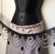 Resonance Chainmail Belt with Bells and Chain Drape