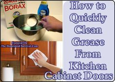 The Homestead Survival | How to Quickly Clean Grease From Kitchen Cabinet Doors | http://thehomesteadsurvival.com