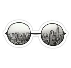 Doodle art 554857616587220660 - Creative Drawing Ideas, keep the round glasses and instead of skyscrapers but in Hogwarts Source by Doodle Drawings, Cute Drawings, Drawing Sketches, Hipster Drawings, Sketching, Cool Drawings Tumblr, Pencil Drawings, Drawing Tips, Art Drawings Easy