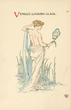 """Illustration from """"A Flower Wedding"""" illustrated by Walter Crane. Published in 1905.From: Archive.org."""