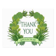 #wedding #thankyoucards - #Green Thank You Succulent Cactus Southwest Wedding Postcard