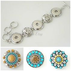Interchangeable with Ginger Snaps Jewelry and by BeaditBracelets