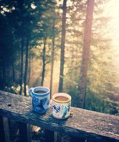 Coffee on a Brisk Morning.