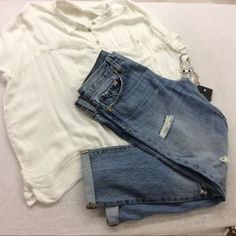 Levi's 501 Distressed Denim Cuffed Ankle Jeans New. Price: $50 Size: 27