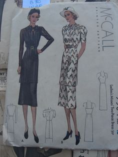McCall 9584 | ca. 1938 Ladies' & Misses' Two-Piece Dress
